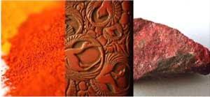 cinnabar - colour red